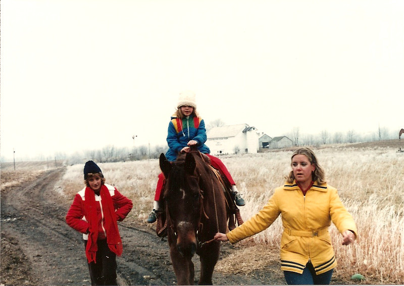 Caroline, Colleen on Coco Bob and Jan - 12/79