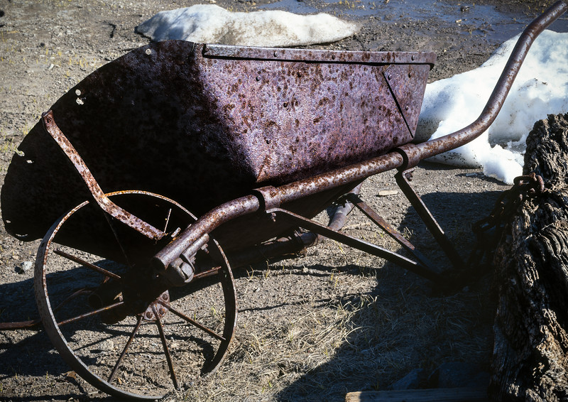 Wheelbarrow, Bodie, California, 1995
