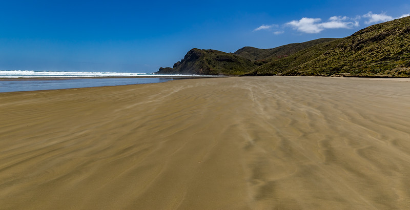 Blick von der Te Werahi Beach Richtung Cape Reinga