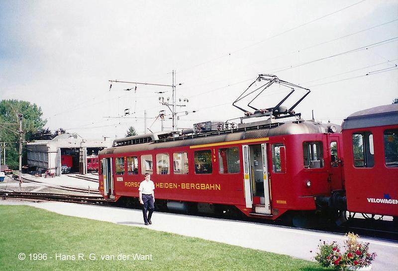 Rorschach-Heiden-Bahn, Heiden, 30-08-1996