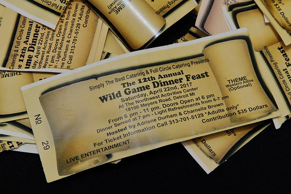Wild Game Dinner 2017