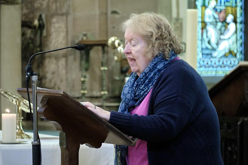 The Annual Parochial Church Meeting (APCM) held at Saint Nicolas' Church, Kings Norton on Sunday 11 October 2020. Thelma Mitchell.