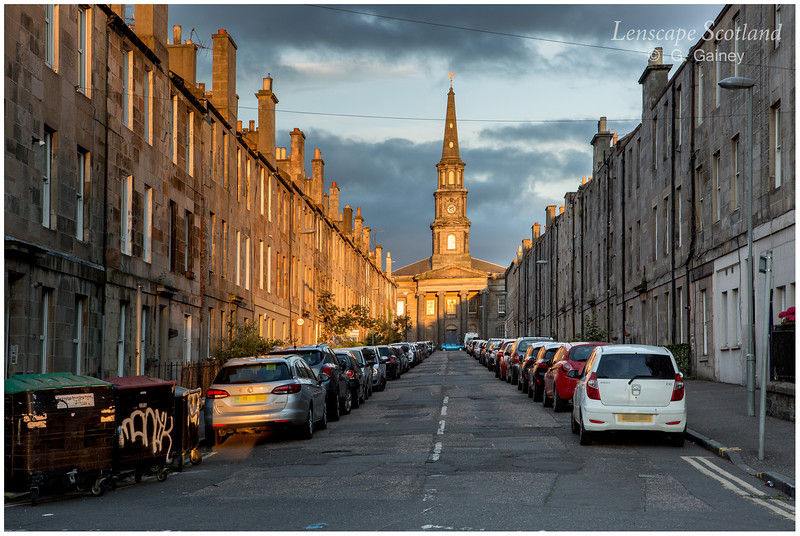 Prince Regent Street and North Leith parish church