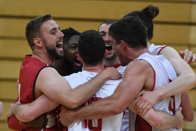 International Volleyball England v Scotland, Sport Central, Northumbria University, 27 May 2017.   © Lynne Marshall   http://www.volleyballphotos.co.uk/2017/Misc/20170527-England-v-Scotland-Men/