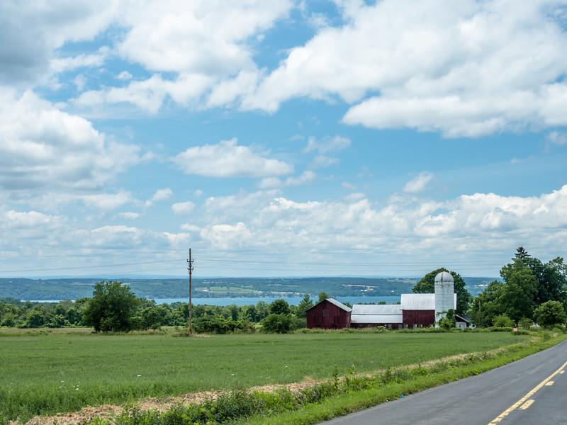 62 July 6 Aurora NY Viw of Cayuga Lake  and Barn-1.jpg