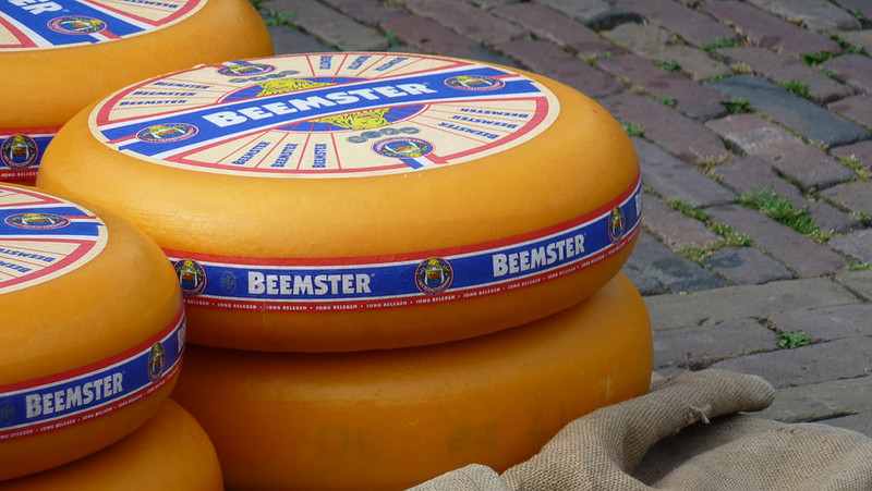 First stop on the tour was Alkmaar, which hosts a traditional cheese market every Friday. These big wheels of cheese are auctioned off to shops and supermarkets. They're too big to fit in my fridge!