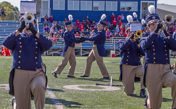 Trine Univ. Marching Band and High Voltage Dancers, Oct. 10, 2015