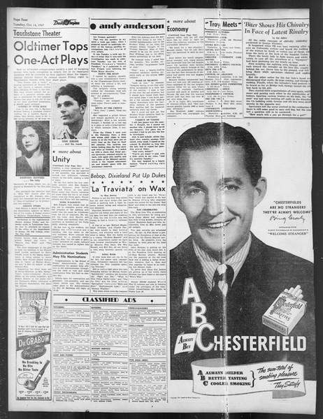 Daily Trojan, Vol. 39, No. 22, October 14, 1947