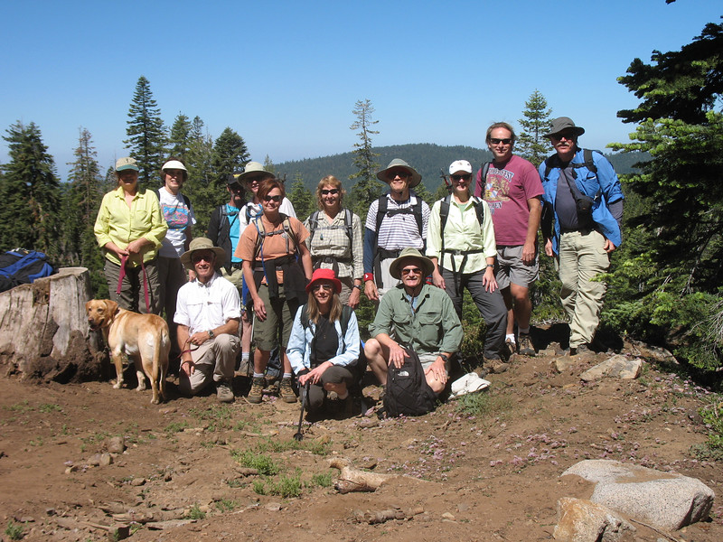 Our group for today. From left, standing: GariRae and Tanner, Carol, Byard, Gail, Maryann, Mary, Tom, Karen, Tom, Frank (yours truly). From left, kneeling: Rich, Jean, Howdy. A fine group!!!