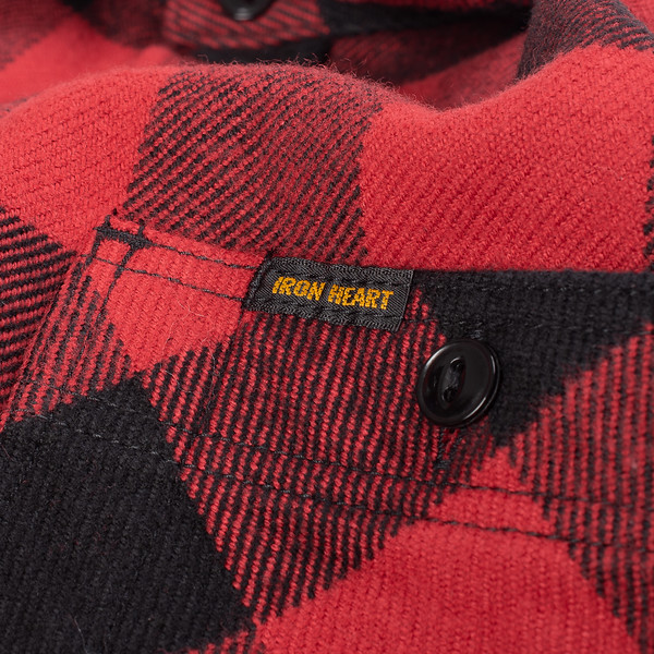 Ultra Heavy Flannel Buffalo Check Work Shirt - Red-Black-25528.jpg