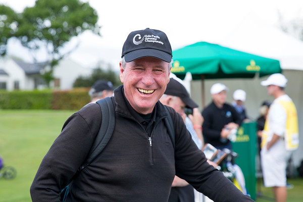 Brian Kane enjoying a laugh on the 2nd day of competition  in the Asia-Pacific Amateur Championship tournament 2017 held at Royal Wellington Golf Club, in Heretaunga, Upper Hutt, New Zealand from 26 - 29 October 2017. Copyright John Mathews 2017.   www.megasportmedia.co.nz