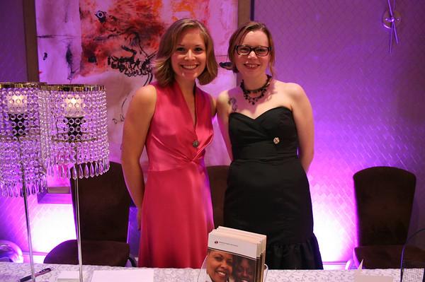 Genevieve Brooks (YWCA Clothing Services, Program Assistant) and Nette Brintzenhofe (Dress for Success Seattle volunteer)