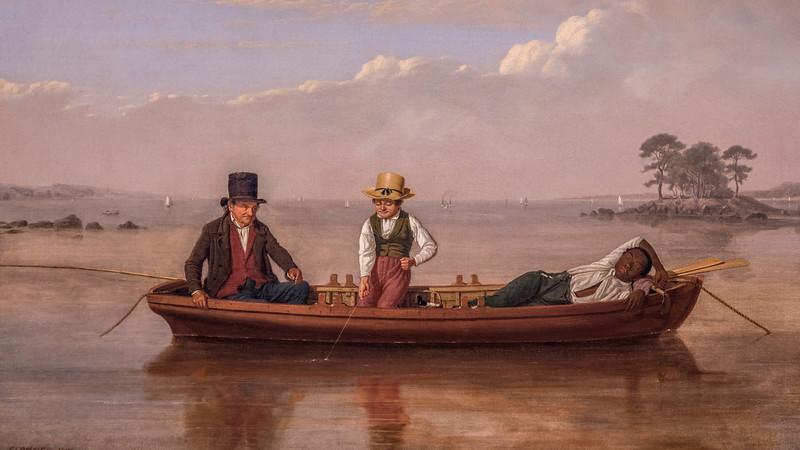 02142 James Goodwyn Clonny Loverpool 1847 Fishing Party on Long Island Sound off New Rochelle 16x9.jpg