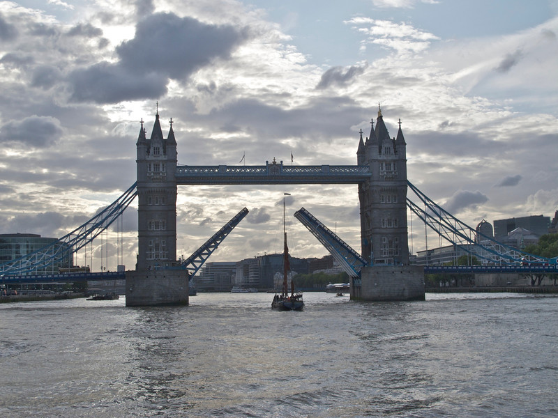 Tower Bridge and sailing barge