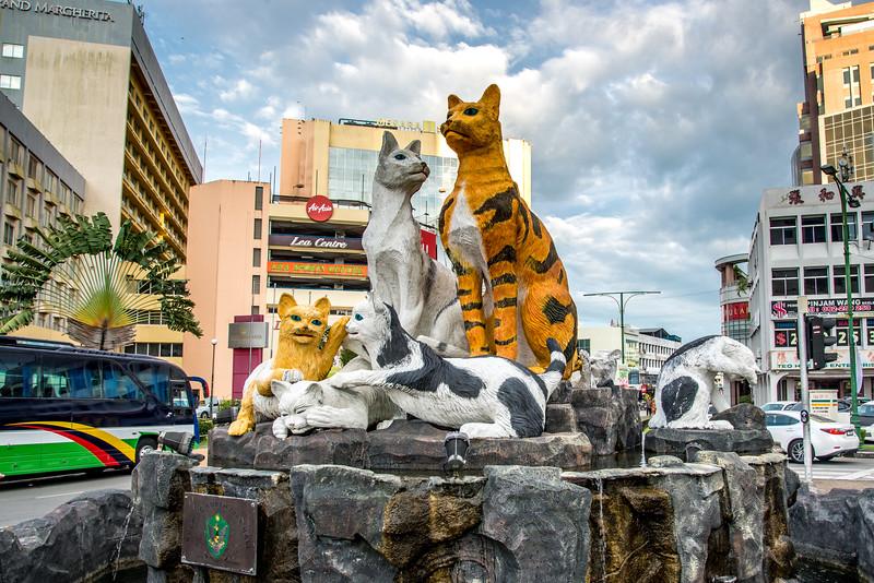 Cat Statue in Kuching