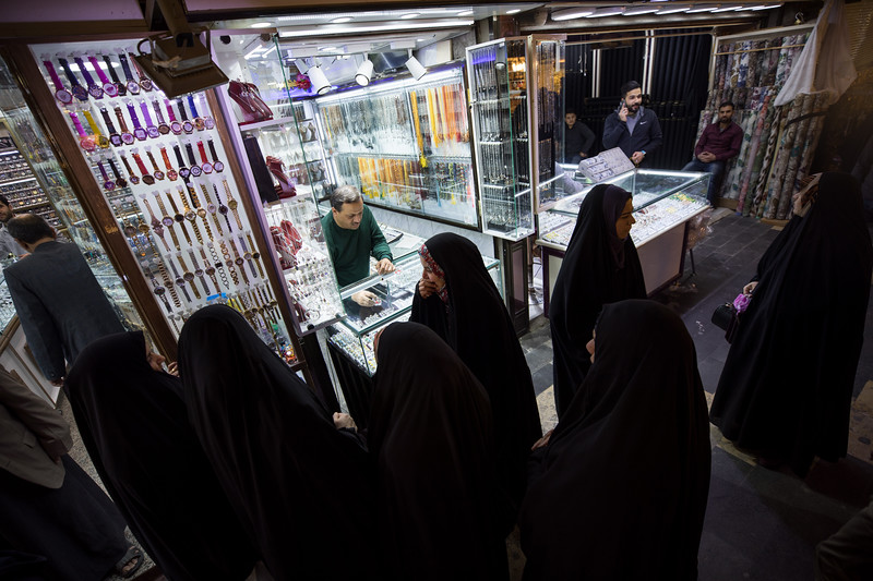 Women wearing the chador in Karbala, Southern Iraq.