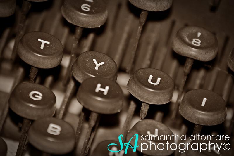 January 16, 2012 Old Underwood Typewriter Keys