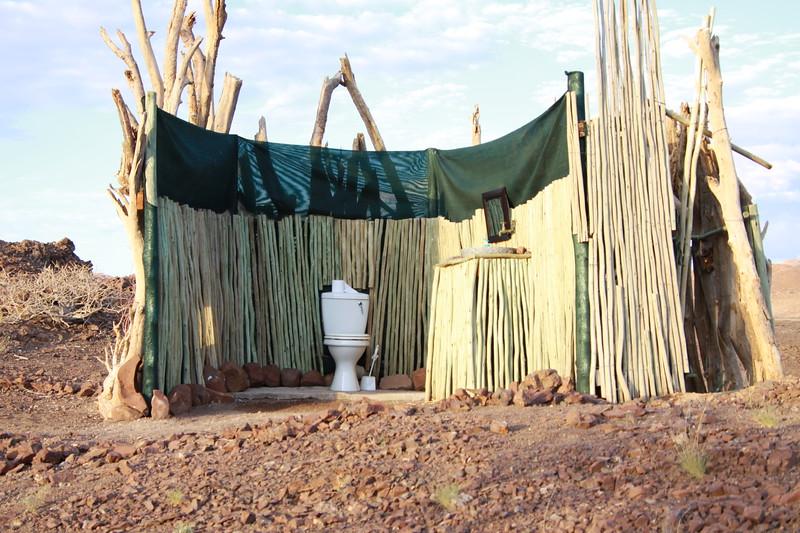 Desert toilet in Damaraland