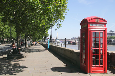 Victoria Embankment London summer 2014