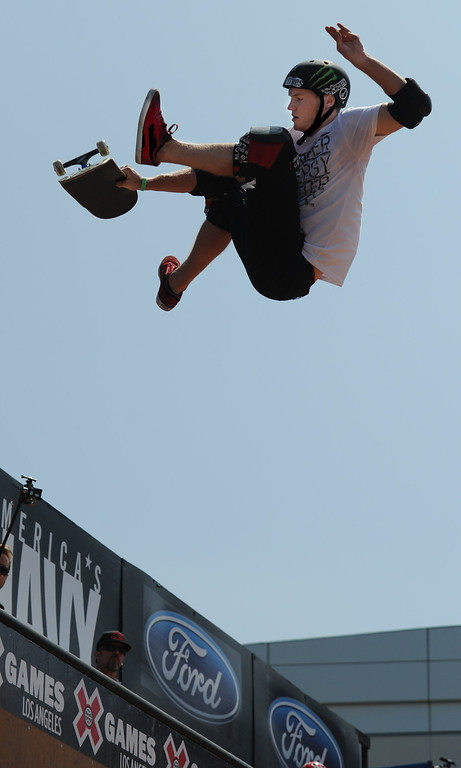 . Paul-Luc Ronchetti during the Skateboard Vert Finals at L.A. Live in Los Angeles, CA. 8/3/2013(John McCoy/LA Daily News)