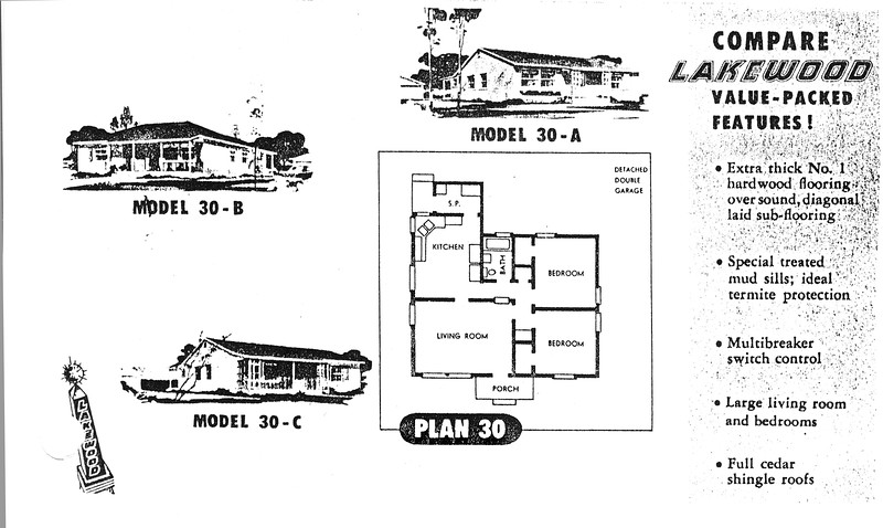 Lakewood Park, Floor Plans for Model 30 A, B, and C