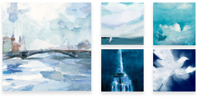 Blue Wall Art for Sale - Beverly Brown Artist