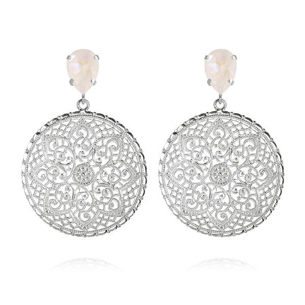 Alexandra Earrings / Light DeLite Rhodium