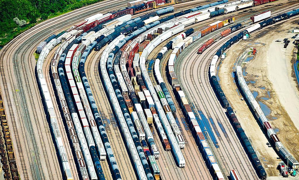 . A train yard. (Pioneer Press: Ben Garvin)