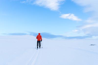Skiing in Hovden
