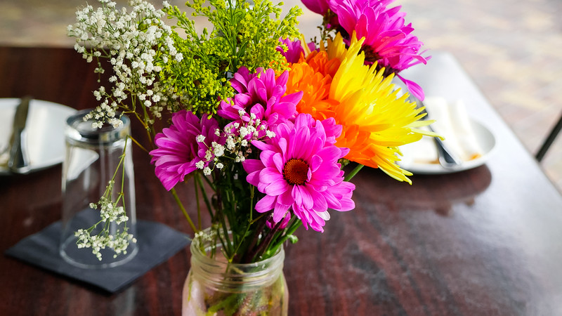 Pretty flowers at Barley's
