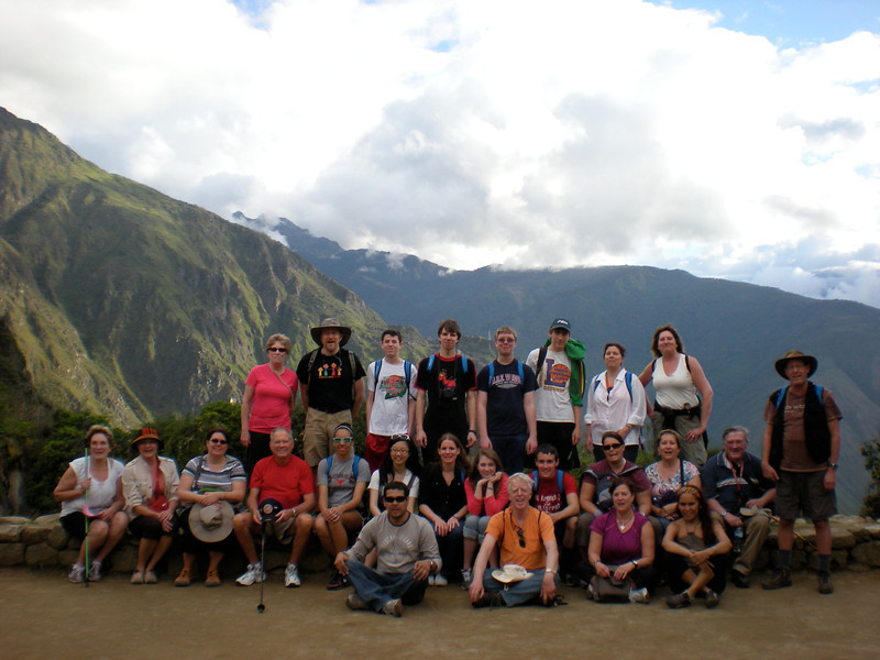 High atop Machu Picchu in Peru as part of Spring 2011 trip led by Lutheran West faculty members Lynn Pangrace and Kathie Courtney.