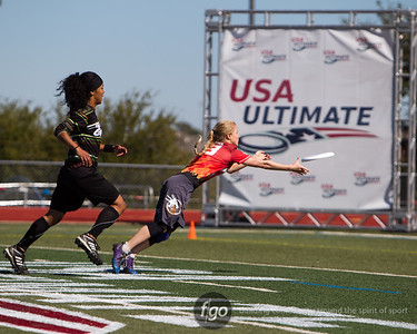 10-19-13 USA Ultimate National Championships - Mixed Division Semis - The Ghosts v Drag'n Thrust