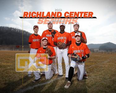 Richland Center baseball seniors BB19