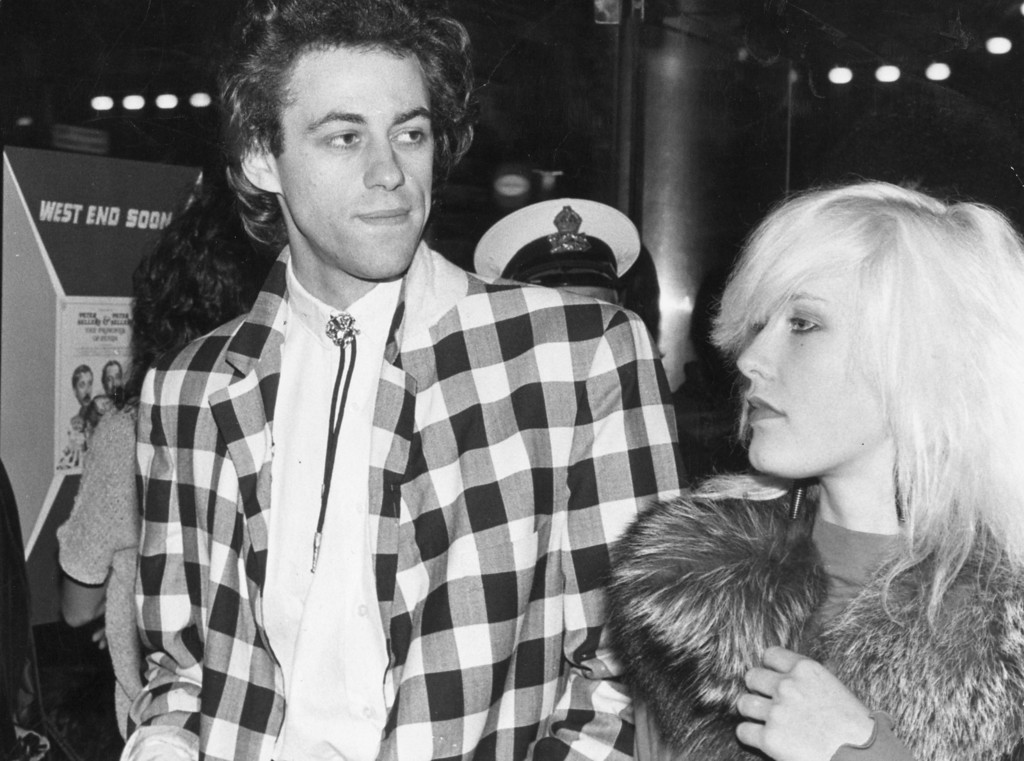 . 17th August 1979:  Lead singer of the Boomtown Rats Bob Geldof wife his wife and television producer Paula Yates (1960 - 2000) arriving for the premiere of the film \'Quadrophenia\' at the Plaza in London.  (Photo by Keystone/Getty Images)