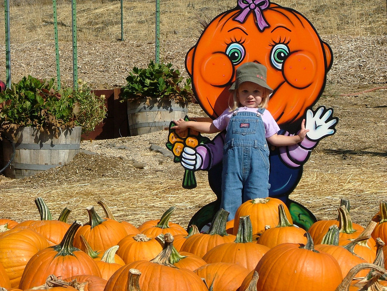 Meri and Pumpkin Head