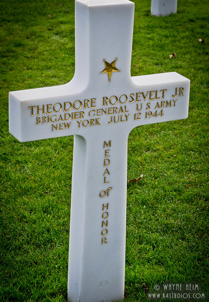 Theodore Roosevelt Jr Grave    Photography by Wayne Heim