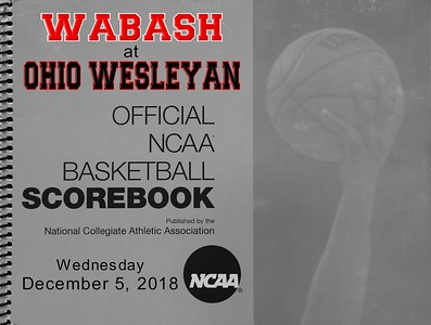 2018 Wabash at Ohio Wesleyan (12-05-18)