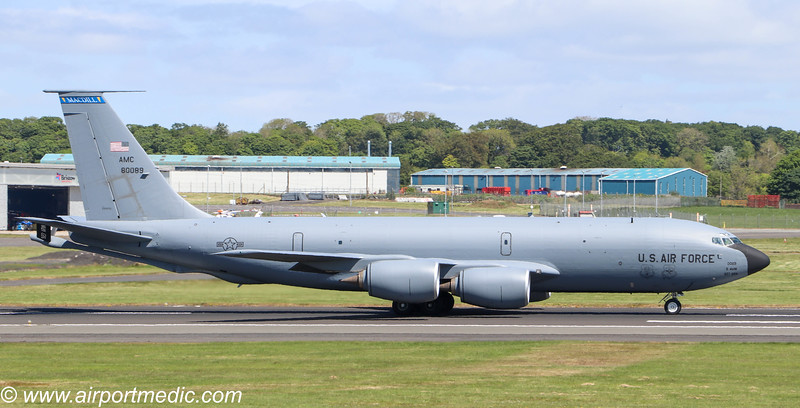58-0089 KC135T US Air Force @ Prestwick Airport (EGPK)