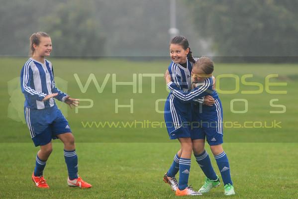 Under 11's Girls v Kiveton Park 06 - 09 - 14