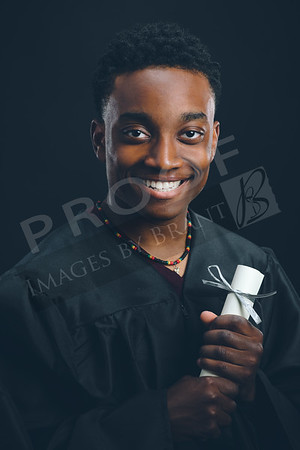 Raysean Cap and Gown Portraits