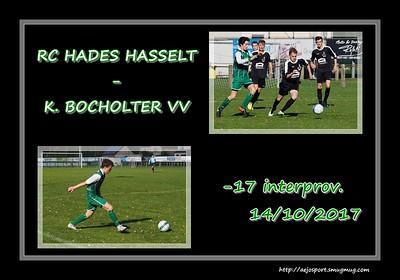 RC Hades Hasselt - K. Bocholter VV  interprov. -U17  14/10/2017