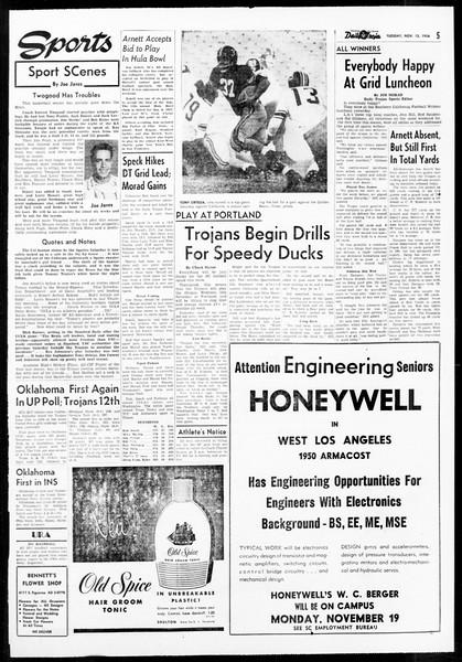 Daily Trojan, Vol. 48, No. 38, November 13, 1956