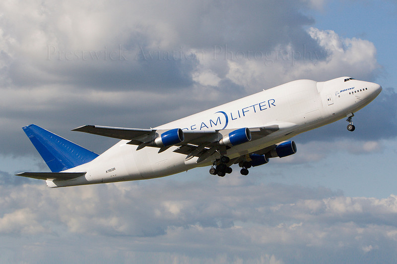 N780BA. Boeing Company Boeing 747-400(LCF) Dreamlifter. Boeing. Prestwick. 090807.
