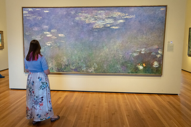 Monet's water lilies at the Cleveland Museum of Art