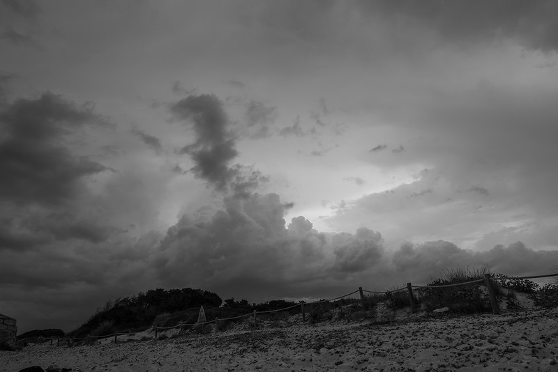 approaching storm; playa es trenc, mallorca
