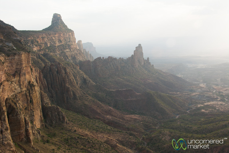 Gheralta Mountain Landscape in Late Afternoon - Tigray, Ethiopia