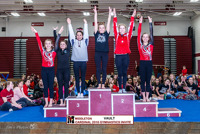 HS Sports - Gymnastics - Cardinal Invite - Feb 06, 2016