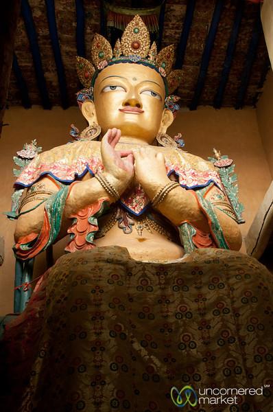 Maitreya Buddha in Namgyal Tsemo Gompa - Leh, Ladakh