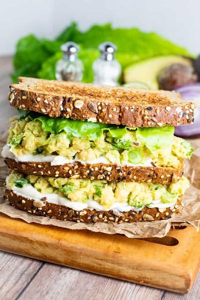 Vegan finger sandwiches - Chickpea avocado