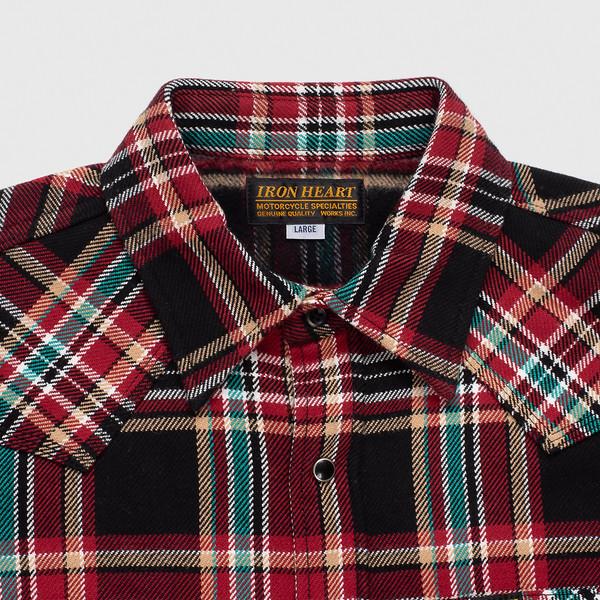 Black Crazy Check Ultra Heavy Flannel Western Shirt--3.jpg